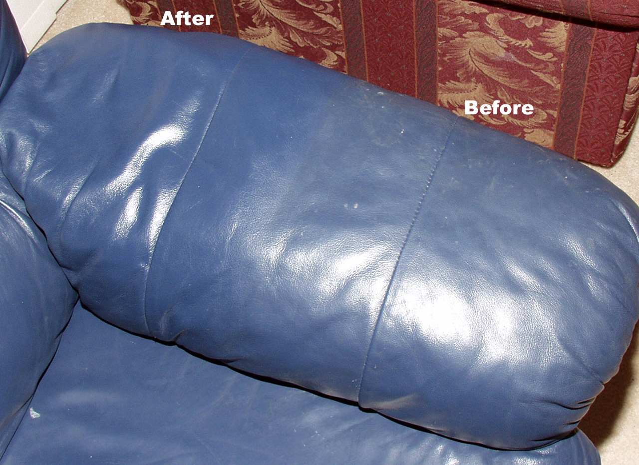 Leather Sofa Cleaned in Huntsville